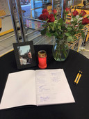 Gedenkhoekje voor overleden werknemer Yoni Kerver