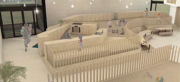 Zo moet de kinderopvang in de oude kerk er vanaf september uitzien.