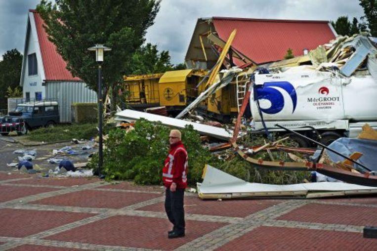 De ravage in Stavoren na het treinongeluk. ANP Beeld