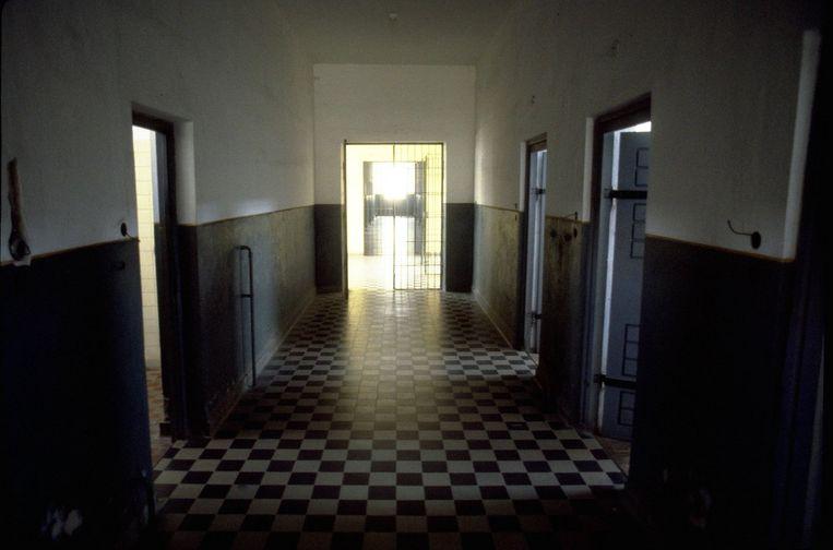 Interieur van het voormalige nazi-concentratiekamp Mauthausen, waar kampartsen verschrikkelijke experimenten uitvoerden op gevangenen. Beeld anp