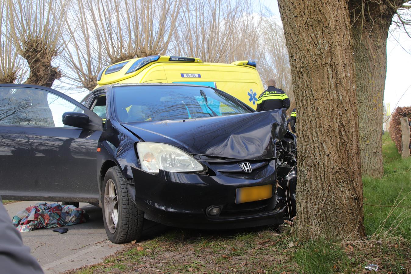 De bestuurder van de auto raakte volgens de politie onwel en botste op een boom langs de Kleine Veerweg in Zwolle. Hij en zijn vrouwelijke passagier zijn naar het ziekenhuis gebracht.