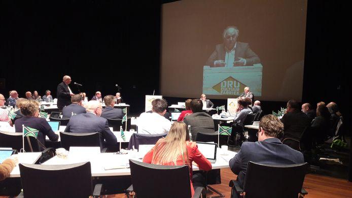 De Achterhoek Raad in vergadering in de DRU in Ulft.