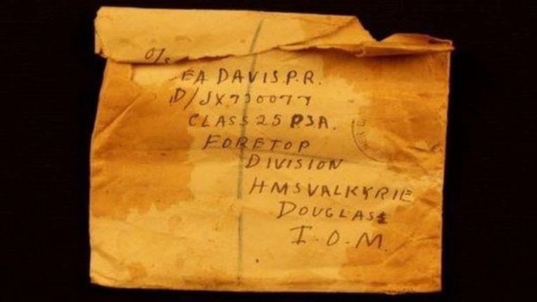 De brief die matroos Phil Davies kreeg van zijn moeder
