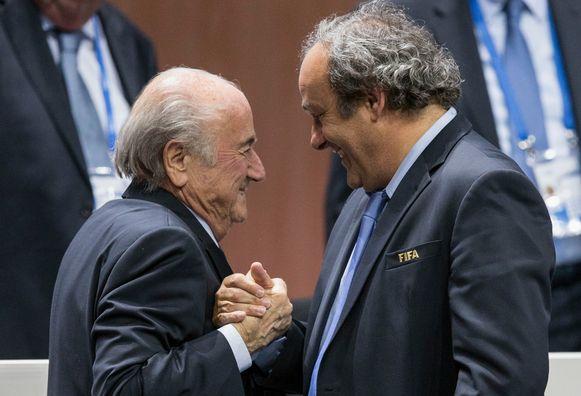 Blatter en Platini, drie jaar geleden.