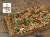 Bietenschotel met peer en gorgonzola