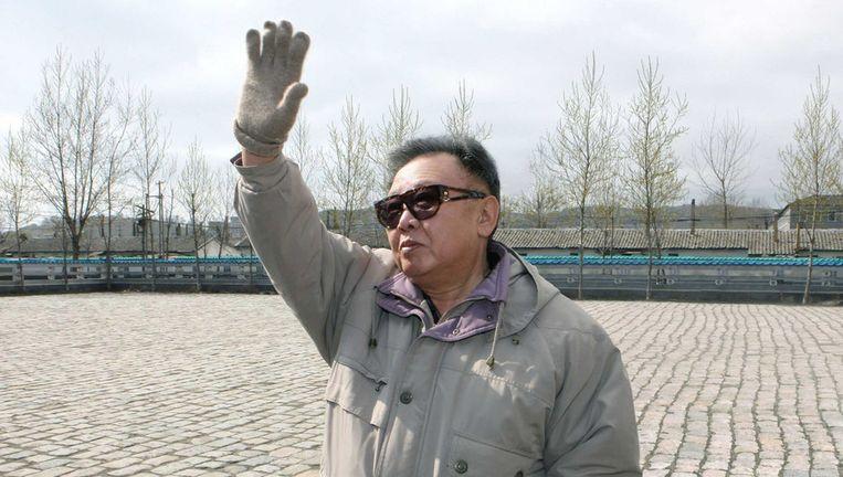 Ongedateerde foto van de Noord-Koreaanse leider Kim Jong-il. Foto ANP. Beeld ap
