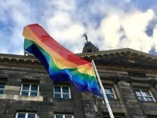 Straatbeeld: Regenboogvlag wappert bij stadhuis Den Bosch: 'Iedereen mag zichzelf zijn'