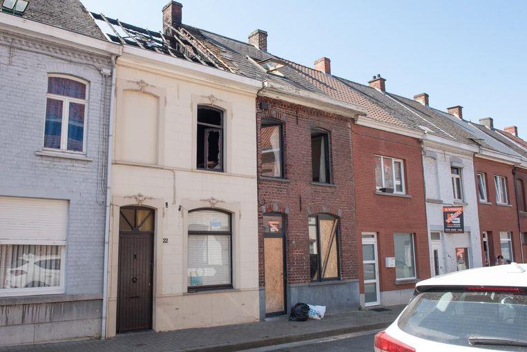 De brand vernielde zolder en eerste verdieping.