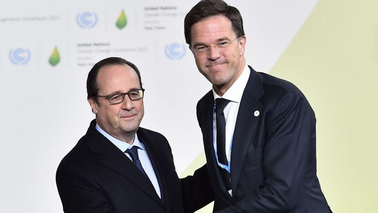 De Franse president Francois Hollande en premier Mark Rutte Beeld anp