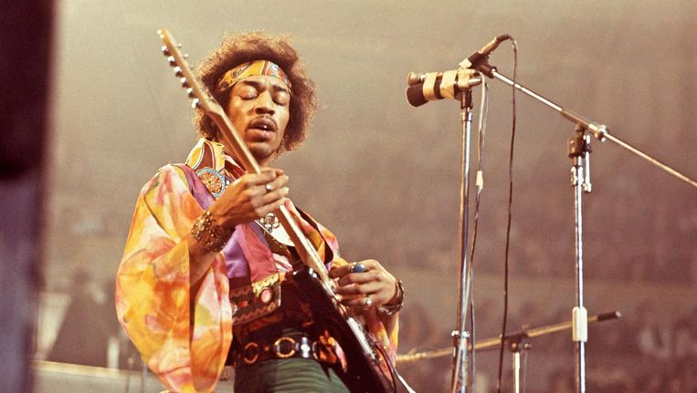 Jimi Hendrix. Beeld null