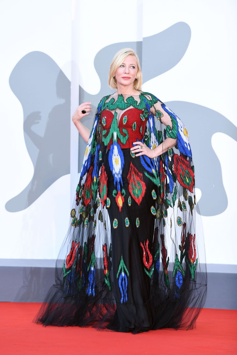 Cate Blanchett bij de slotceremonie van het 77ste filmfestival van Venetië, op 12 september 2020. Beeld WireImage