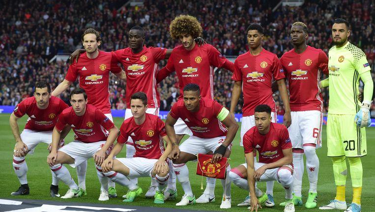 Het team van Manchester United Beeld afp