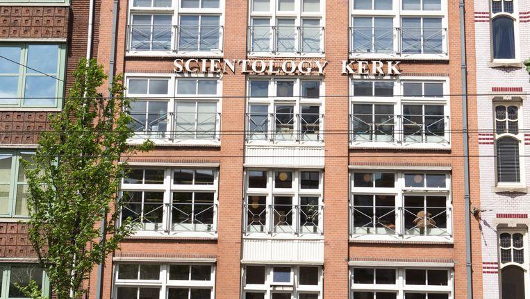 De Scientology kerk aan de Nieuwezijds Voorburgwal in Amsterdam. Beeld Cigdem Yuksel