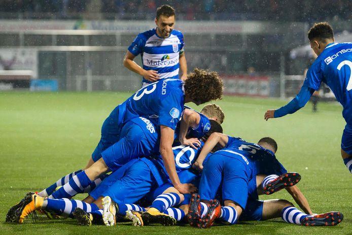 PEC Zwolle viert de 1-0 tegen ADO Den Haag dit seizoen.