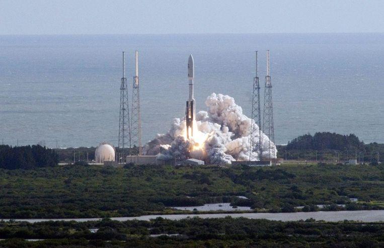 De lancering van Curiosity vorig jaar november. Beeld afp