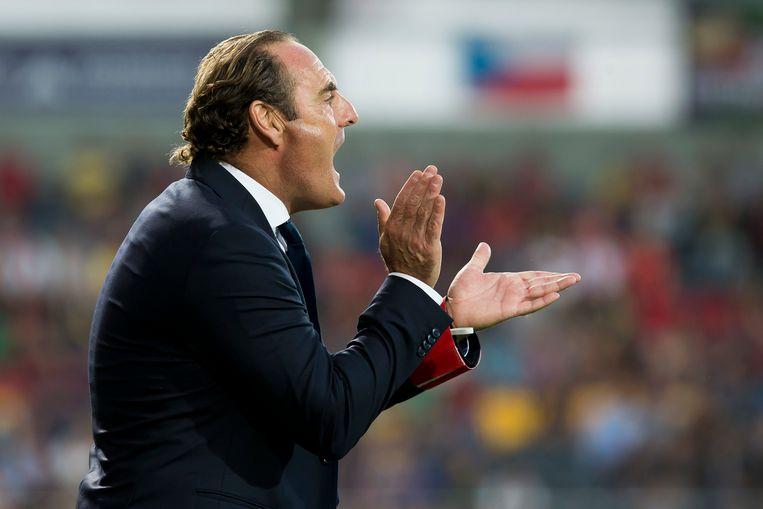 Yves Vanderhaeghe, vorige week ontslagen bij KV Oostende.