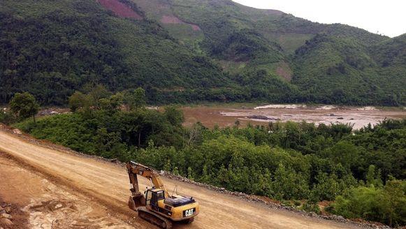 In Laos is gestart met de bouw van de controversiële Xayaburi-stuwdam. Foto uit 2011.