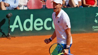 Verenigde Staten knokken zich in halve finales Davis Cup tegen Kroatië weer langszij
