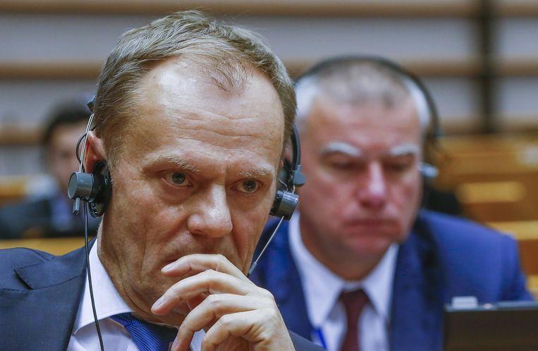 Voorzitter Donald Tusk van de Europese Raad van regeringsleiders. Beeld reuters