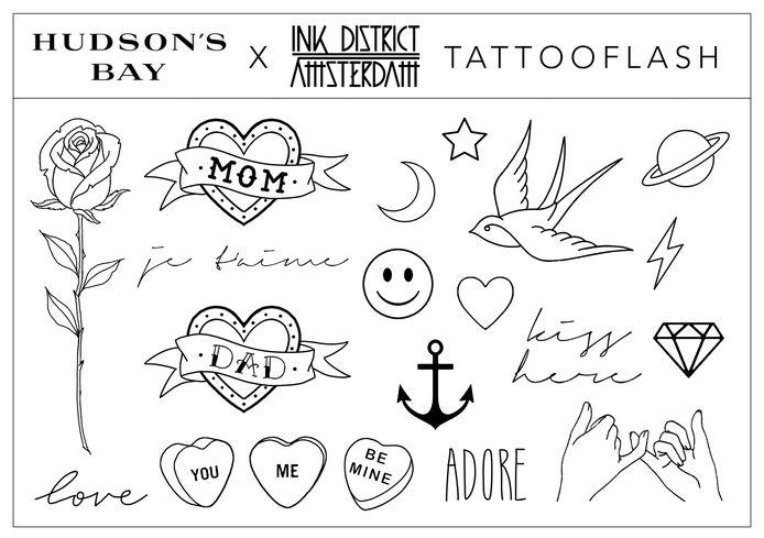 De symbolen waaruit gekozen kon worden.