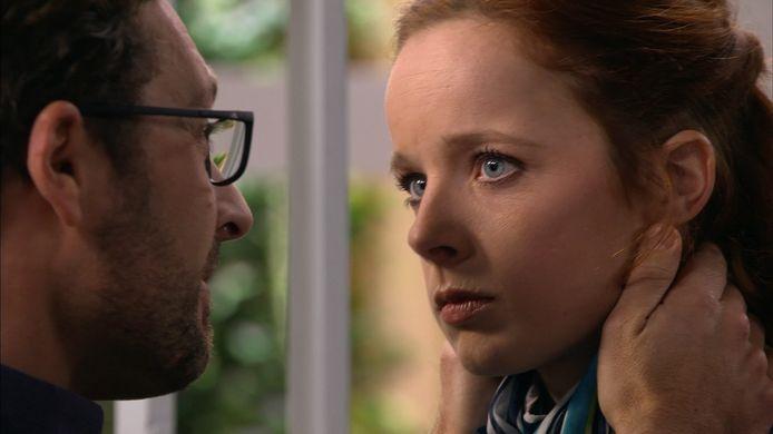 Christine (Daphne Paelinck) en Bob (Christophe Haddad): binnenkort getrouwd?