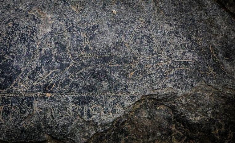 Een detail uit het graf van de echtgenote