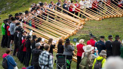 Grootste alpenhoornfestival ter wereld in Zwiterse Nendaz