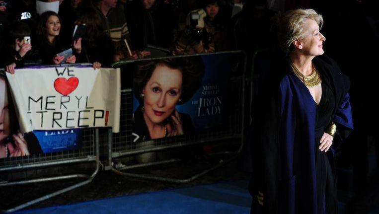 Meryl Streep als Margaret Thatcher Beeld afp