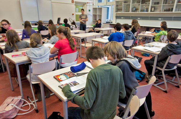 Middelbare schoolklas in Haarlem. Beeld ANP XTRA