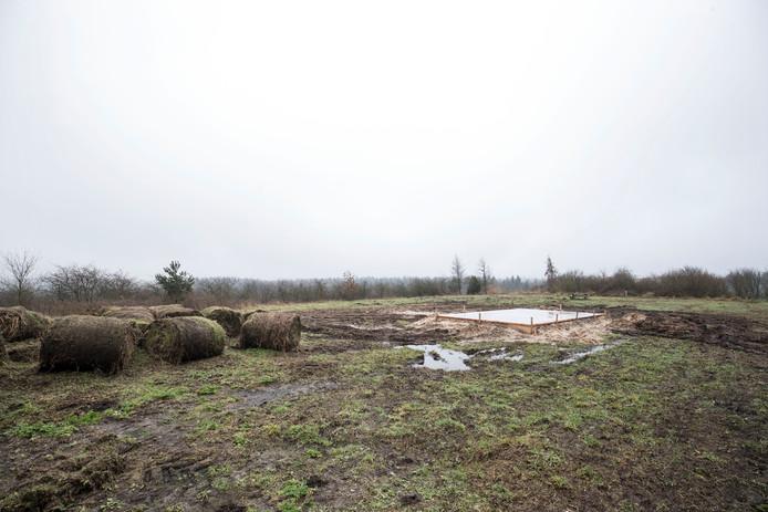 De voormalige vuilnisbelt in Wekerom.