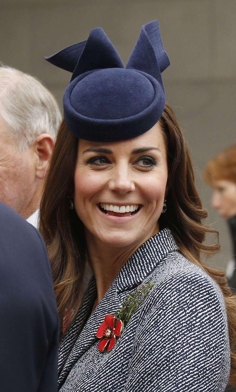 Prinses Kate is eveneens aanwezig bij de herdenking van D-Day in Normandië. Beeld afp