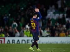 Staande ovatie voor Messi van Betis-fans na werelddoelpunt