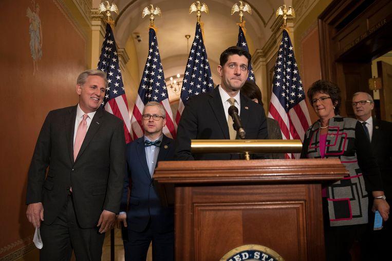Republikeins Huisvoorzitter Paul Ryan kon gisteren een akkoord over de begroting aankondigen. Het is nu echter nog aan de Senaat om voor een definitief budget te zorgen.