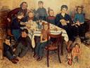 Familieportret uit 1949. Bas Bastiaans staat rechts van zijn vader.