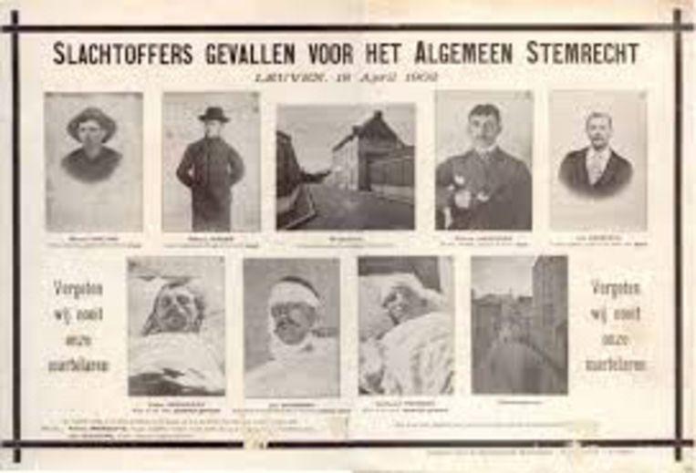 De slachtoffers van de staking die de geschiedenis inging als de 'Bloednacht'.