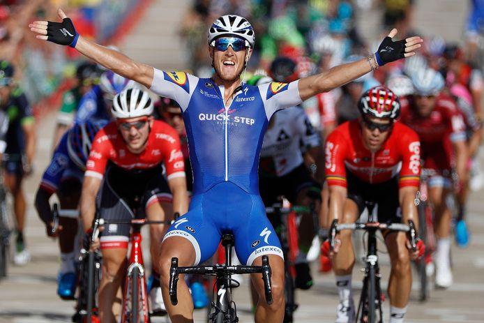Trentin won ander meer in Tarragona, achter de Italiaan herkent u Theuns en Debusschere.