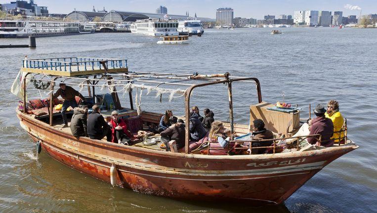 282 Migranten zaten op de boot toen deze vanuit Egypte op lampedusa aankwam. Beeld Roy del Vecchio