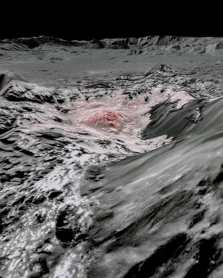 Via deze afbeeldingen leiden de onderzoekers af dat er water ontsnapt naar de bovengrond.