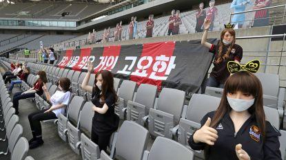 """""""Een misverstand"""": voetbaltribune in Zuid-Korea is plots gevuld met... sekspoppen"""