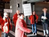 SP West Maas en Waal is granulietstort zat en protesteert in provinciehuis