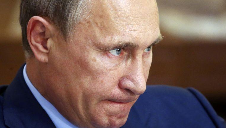 Premier Poetin van Rusland. Beeld reuters