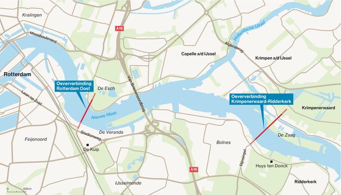 Oeververbinding Rotterdam-Oost en Oeververbinding Krimpenerwaard-Ridderkerk