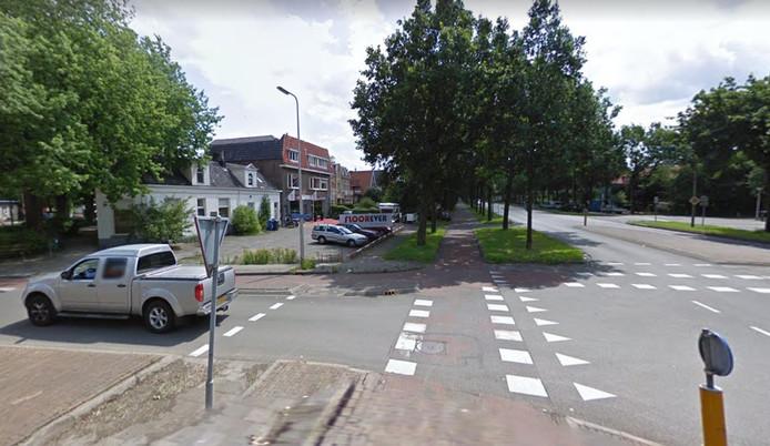 Het kruispunt waar de aanrijding plaatsvond.
