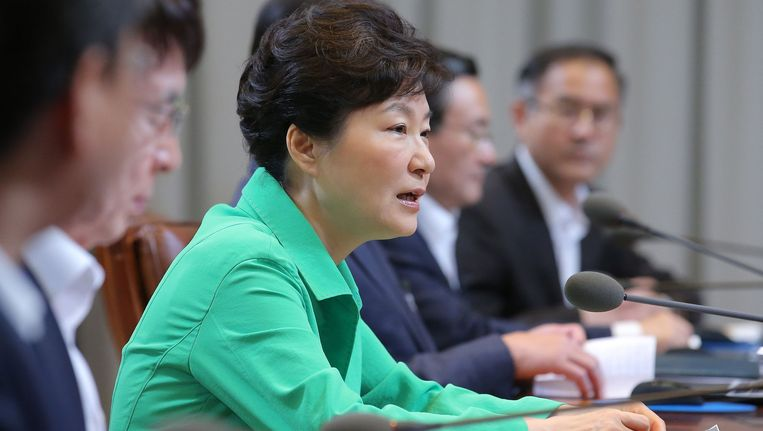 Presidente Park Geun-hye is niet opgezet met de gewapende provocaties van buur Noord-Korea en eist excuses.