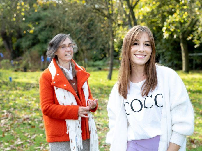 Ianthe Tavernier samen met mama, Tania.