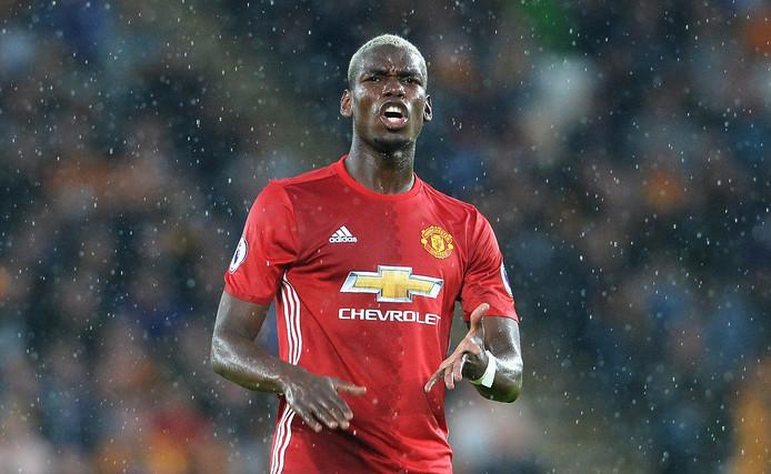 Paul Pogba in het shirt van Manchester United.