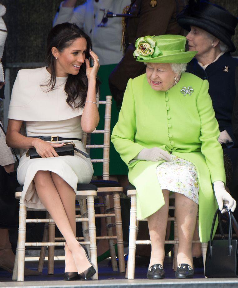 Meghan Markle en de Britse Queen Elizabeth.