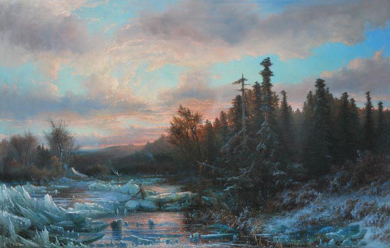 'Wintermorgen', J.W. Bilders. Dordrechts Museum.  Beeld x