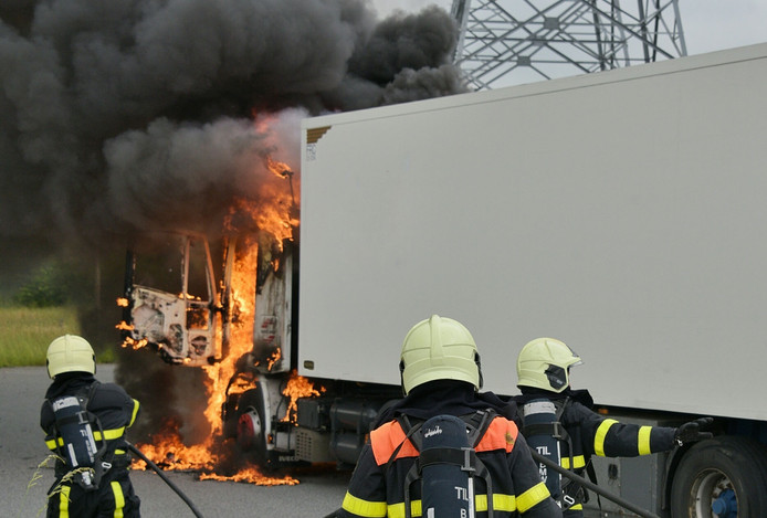 De brandweer had het vuur snel onder controle