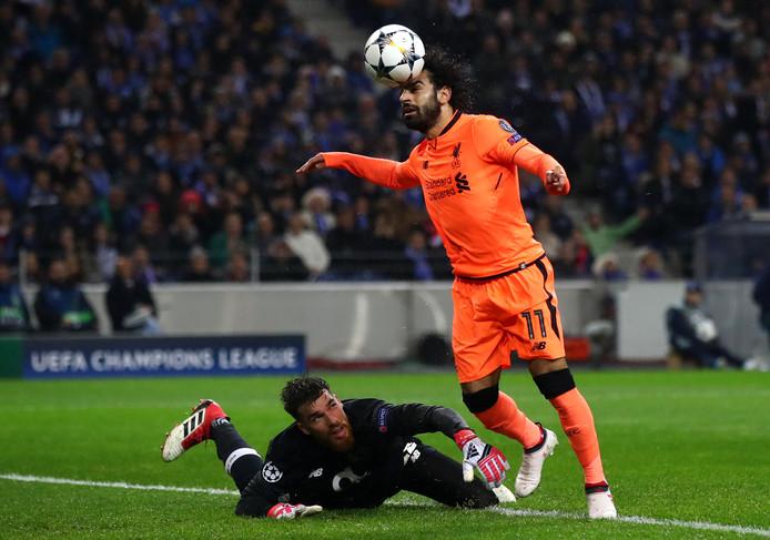 Mohamed Salah met zijn kunststukje voor de 0-2.
